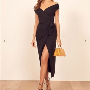 Reformation Sage Dress in Black